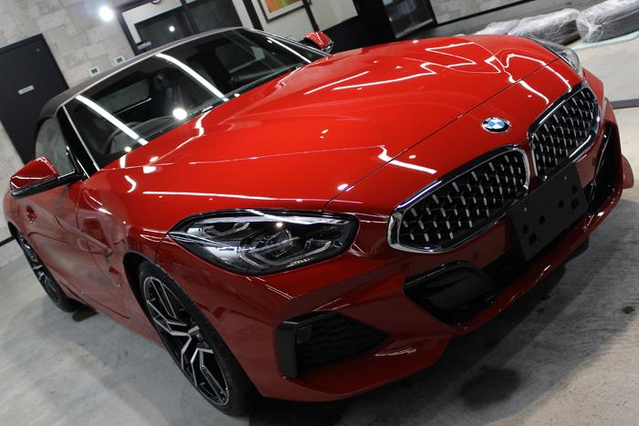 BMW Z4 サンフランシスコレッド ボンネット右