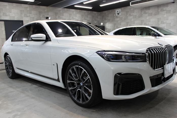 BMW 740d Mスポーツ ミネラルホワイト ホイール右