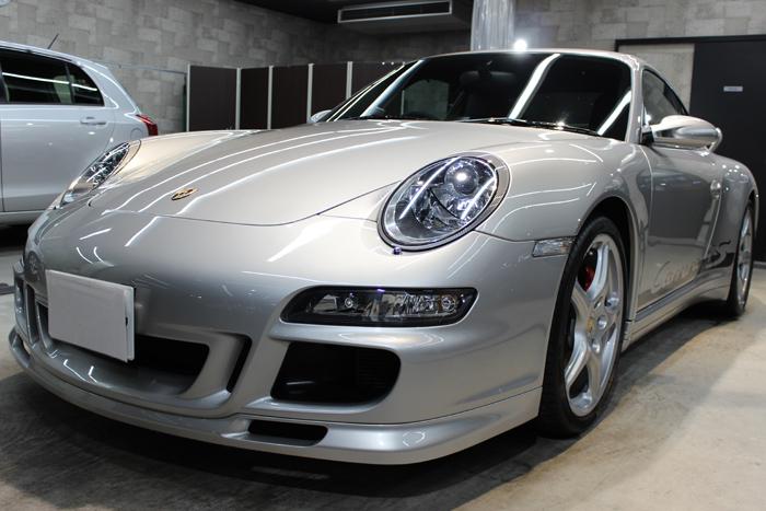 ポルシェ 911カレラ4S 997 シルバー フロントバンパー左