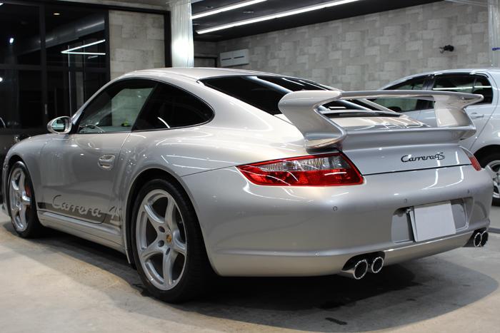 ポルシェ 911カレラ4S 997 シルバー リアバンパー