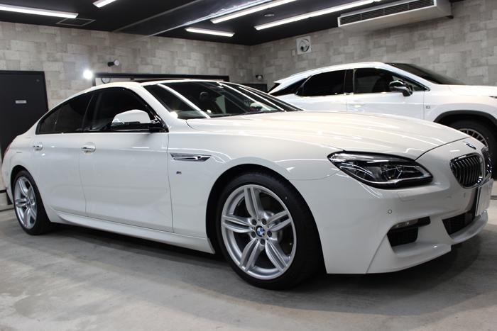 BMW 640iグランクーペ アルピンホワイト ホイール右