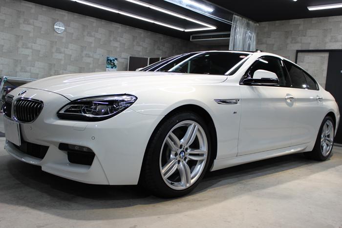 BMW 640iグランクーペ アルピンホワイト ホイール左