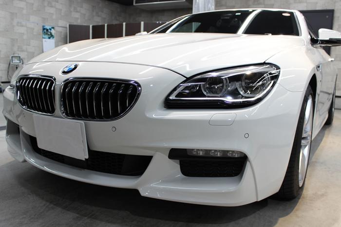 BMW 640iグランクーペ アルピンホワイト キドニーグリル