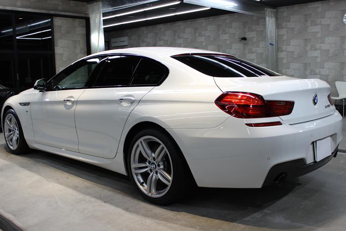 BMW 640iグランクーペ アルピンホワイト リアバンパー