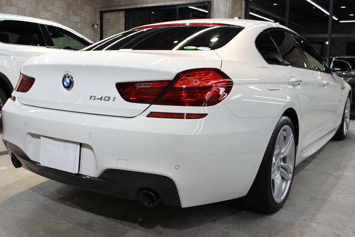 BMW 640iグランクーペ アルピンホワイト リアバンパー右