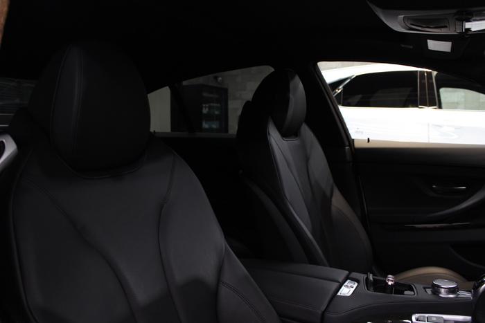 BMW 640iグランクーペ アルピンホワイト シートコーティング 運転席