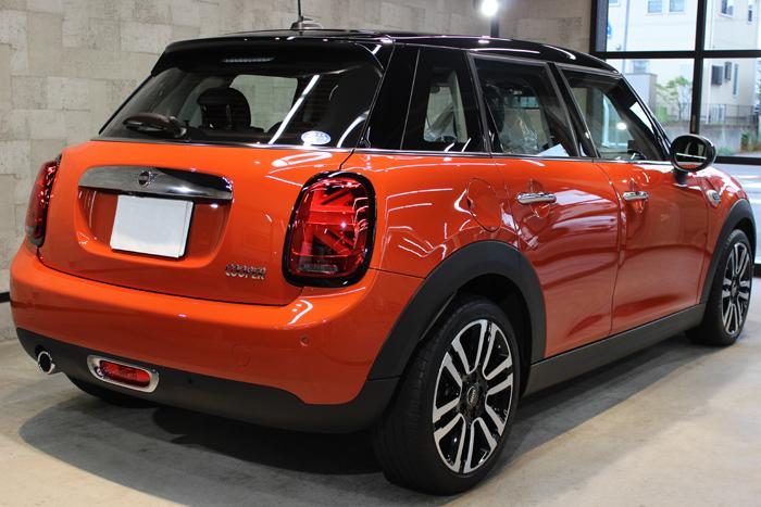 BMW ミニ ソラリスオレンジ リアバンパー