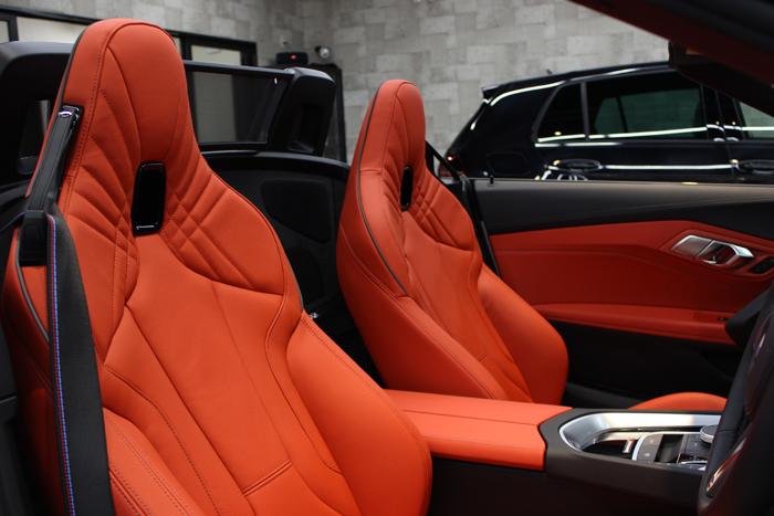 BMW Z4 アルピンホワイト シートコーティング 運転席