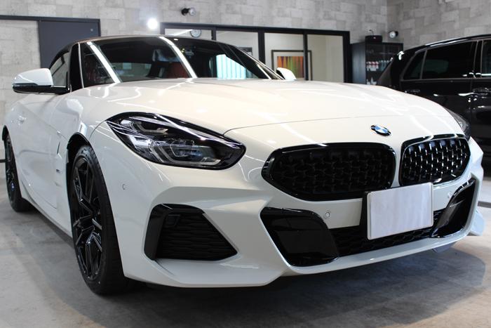 BMW Z4 アルピンホワイト フロントバンパー右
