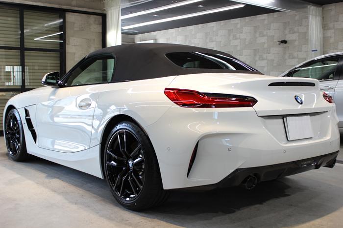 BMW Z4 アルピンホワイト リアバンパー