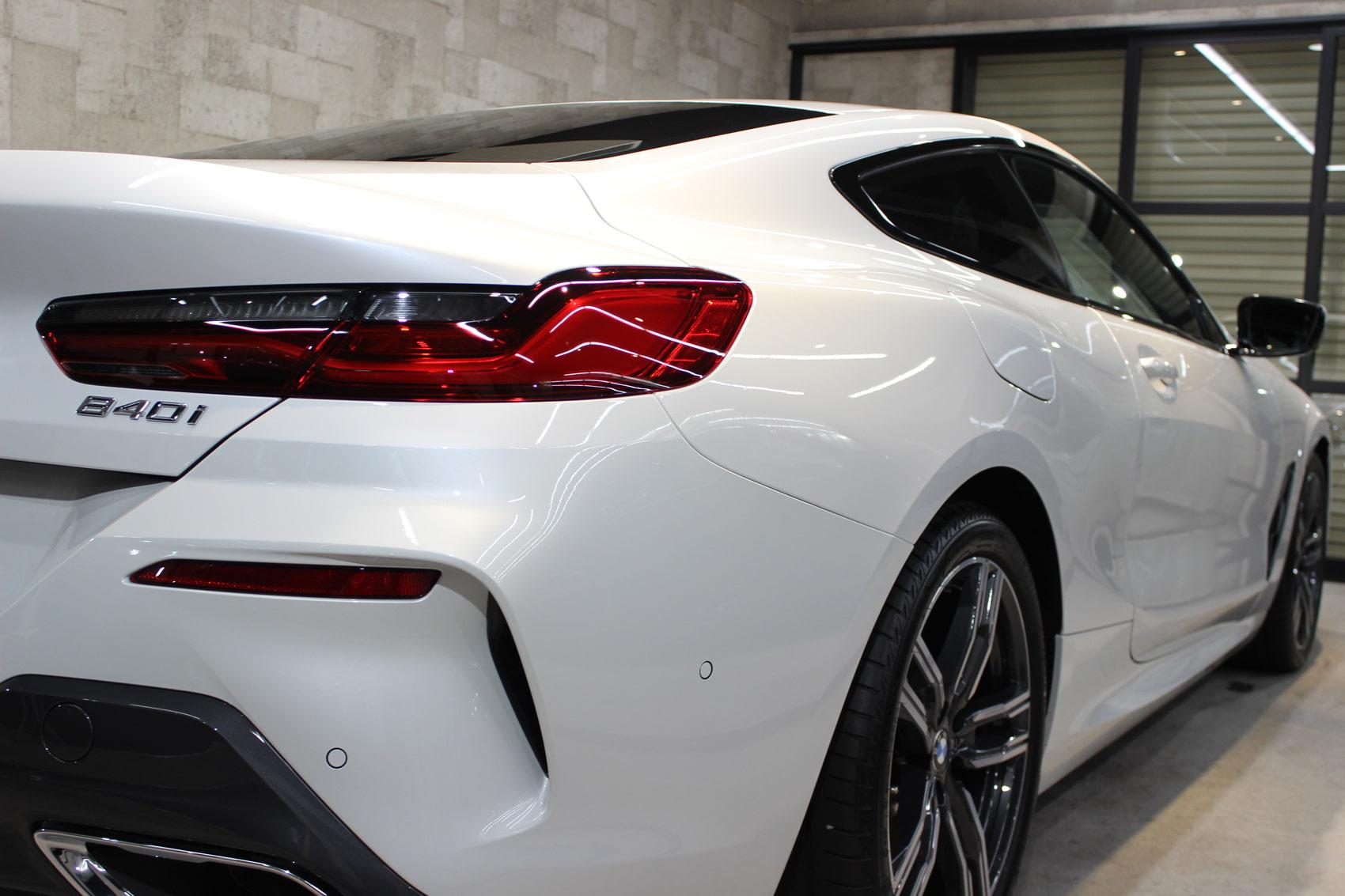 BMW 840iクーペ ミネラルホワイト テールライト