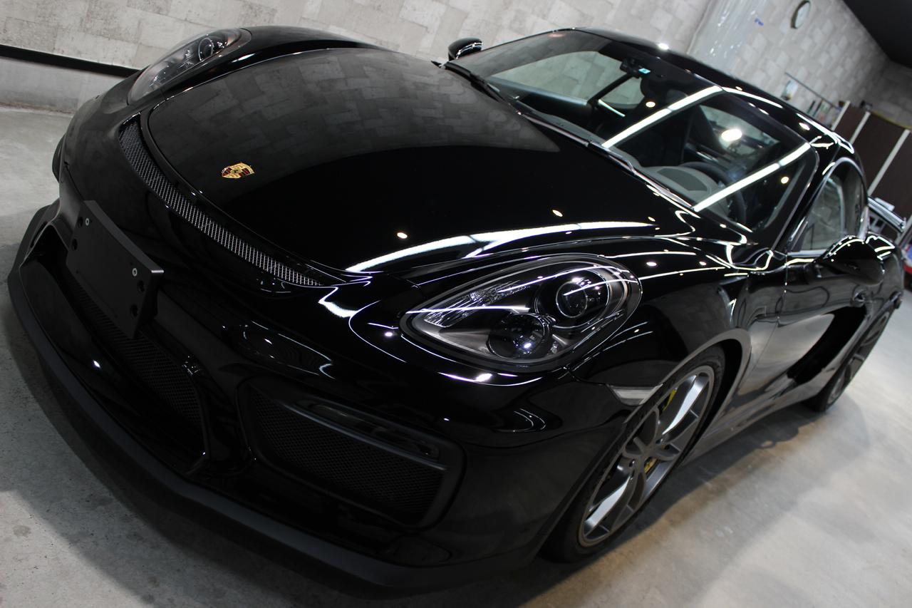 ポルシェ ケイマン GT4 ブラック トップ画像