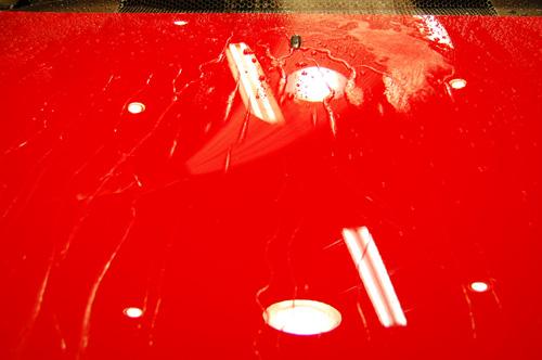 リボルト施工後の洗車時の様子